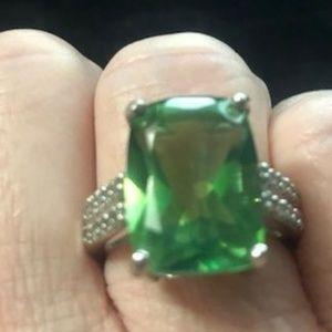 10.33 carat Fern Green Quartz Ring